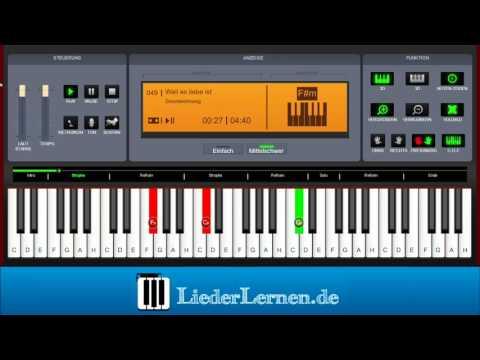2Raumwohnung - Weil es Liebe ist - Klavier lernen - Musiknoten - Akkorde