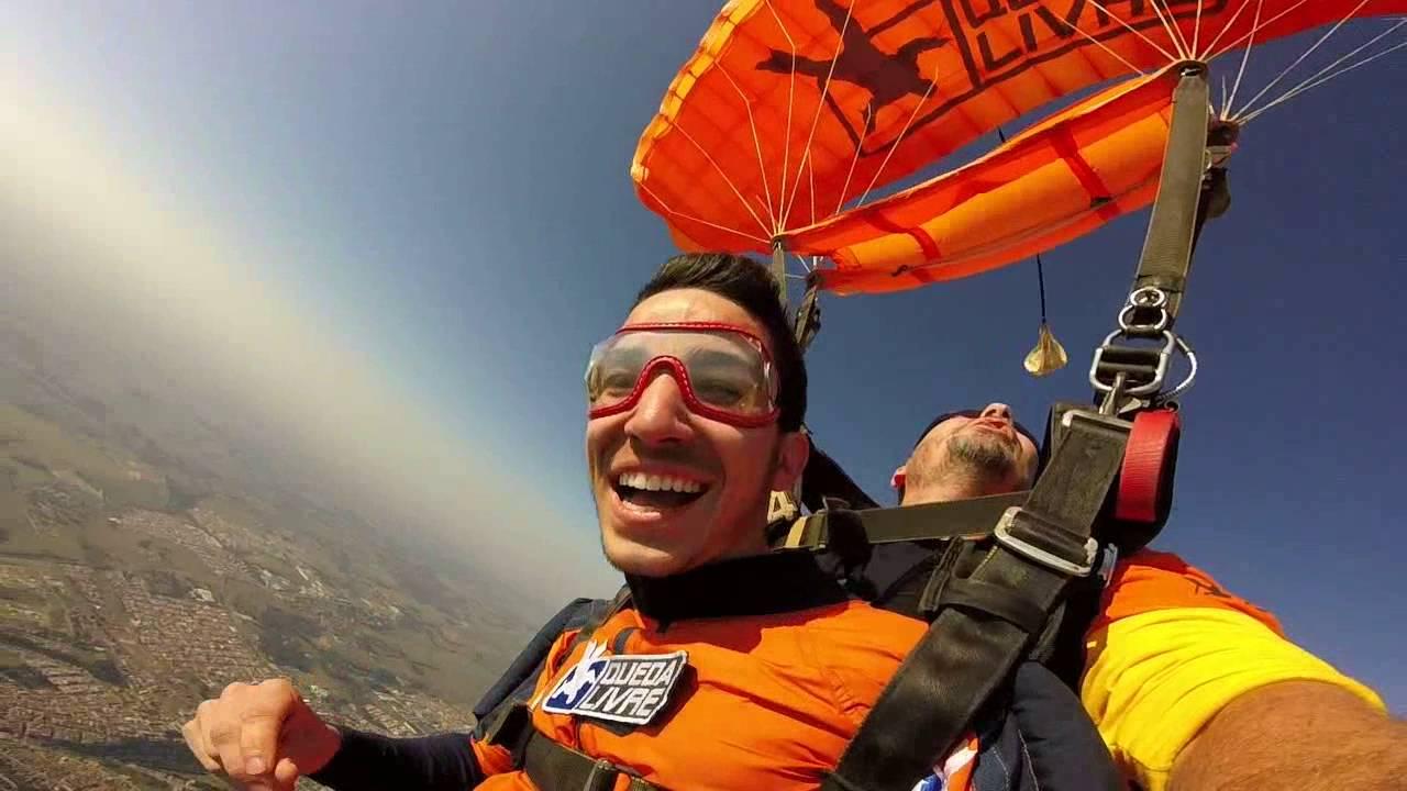 Salto de Paraqueda do Lucas M na Queda Livre Paraquedismo 28 07 2016
