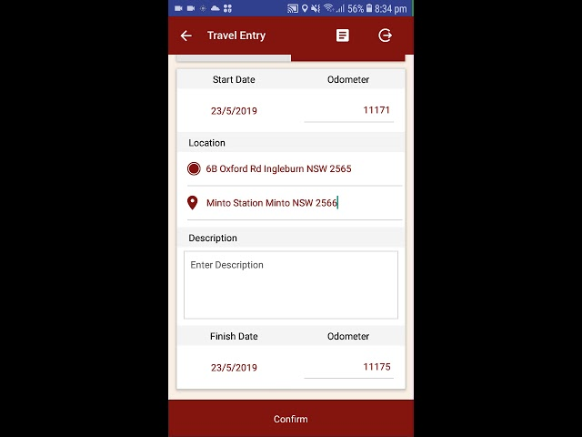 Justlogit.online - Mobile Application - Enter Travel with GPS Business End