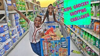 NO BUDGET KIDS GROCERY SHOPPING CHALLENGE