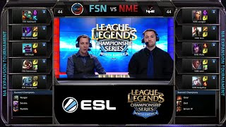 Enemy eSport vs Fusion Gaming Game 2 | NA LCS Expansion Tournament Spring 2015 | NME vs FSN G2 60FPS
