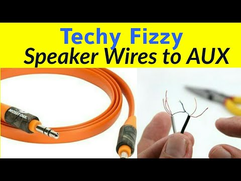Convert Speaker Wires To AUX 35 mm jackSpeaker Wires To AuxTechy