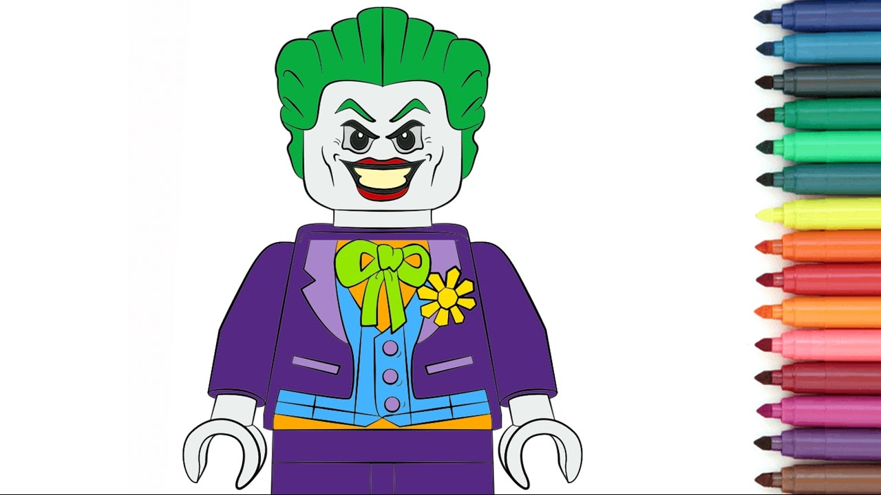 LEGO Joker [Coloring Page For Kids] - YouTube