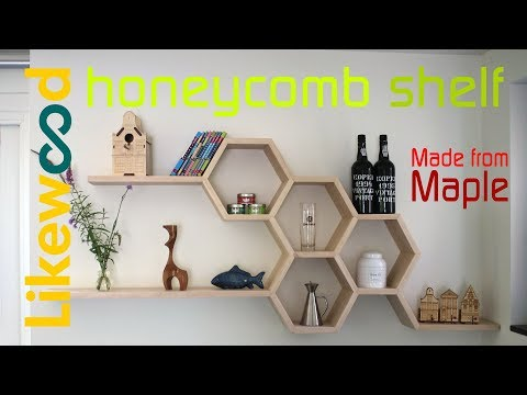 Honeycomb shelf made from maple