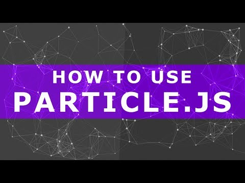 How to use particles.js - particles.js as background - background particles animation jquery