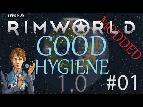Let's Play RimWorld Modded - Good Hygiene - Ep  1! - Les
