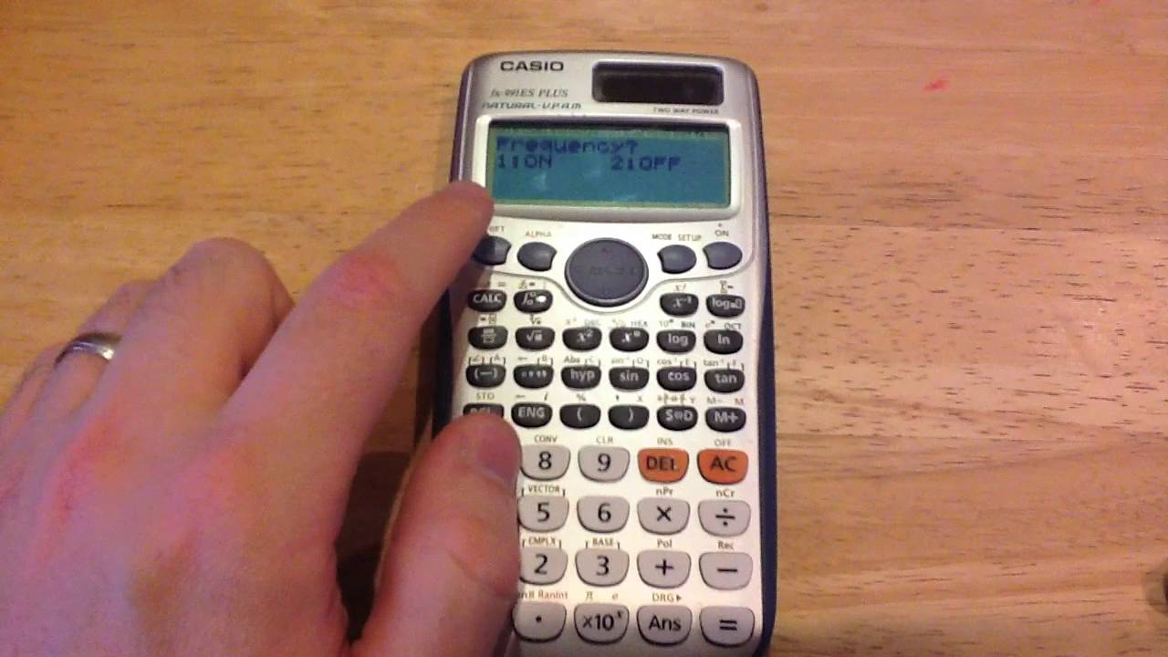 casio calculator - mean from a frequency table