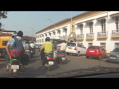 Taxi ride around Panjim Panaji Goa India