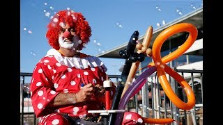 Alameda's Kenny the Clown on Fisherman's Wharf in San Francisco