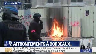 Gilets jaunes: des affrontement ont éclaté à Bordeaux