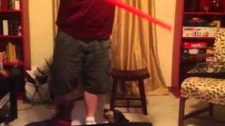 Daschunds hate light sabers