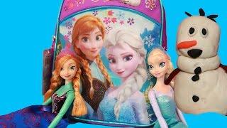 Surprise Backpack Frozen Play-Doh Elsa Disney Princess Anna MLP Huevos Sorpresa Kinder Surprise