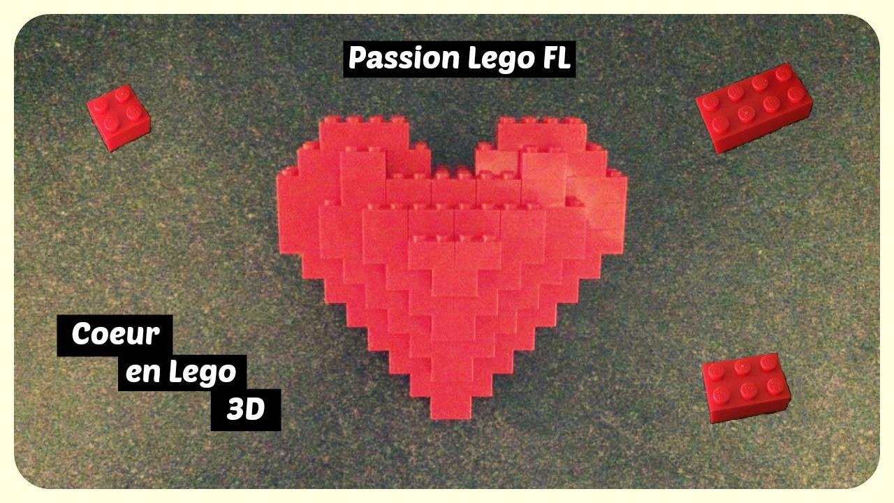 tuto  construire un coeur en lego 3d