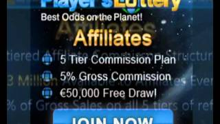 The Players Lottery Affiliate Program - We are in Pre-Launch! - Sign Up Now and be Prepared!