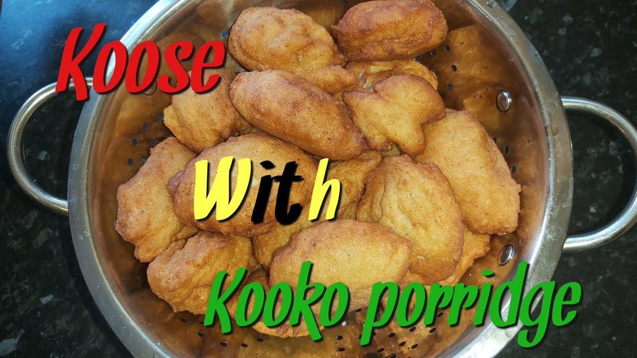 HOW TO MAKE KOOSE (AKARA) WITH KOOKO (MAIZE PORRIDGE) | GHANA STREET FOOD | EASY AND DELICIOUS