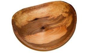 Wood Turning Natural Edge Pecan Bowl