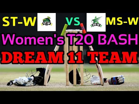 ST-W vs MS-W T20 Dream11 Team | Women's T20 BASH League | Playing 11 & Prediction