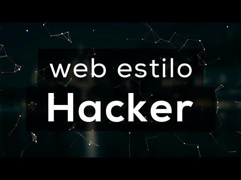 """Como hacer un sitio web estilo """"Hacker"""" utilizando partículas."""