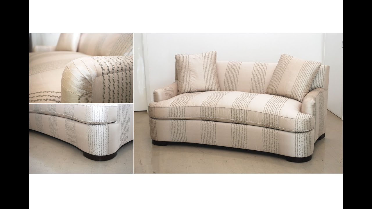Circular Loveseat Sofa 83 Off Bob S Furniture Grey