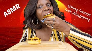 ASMR Cold Donuts Eating Sounds Eat With Me Boston Cream Whispers
