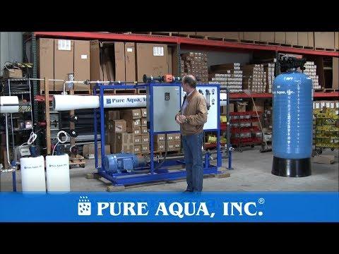 Commercial Seawater Reverse Osmosis Equipment Colombia 2 x 11,000 GPD | www.PureAqua.com