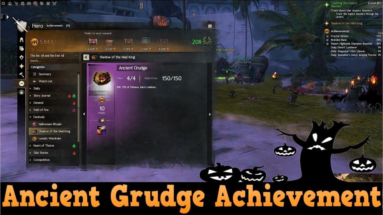 Gw2 Halloween 2020 Achievement GW2 Path of Fire   Halloween Ancient Grudge Achievement Guide
