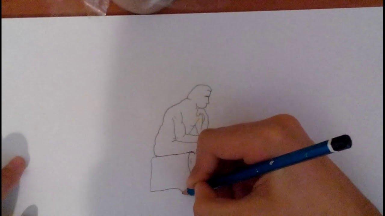 çizim 2düşünen Adamı çizdim Youtube