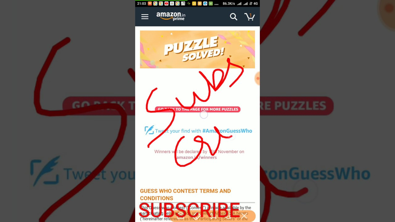 10pm Guess Amazon 9pm Contest Youtube Puzzle Who 4 October wwYCqr