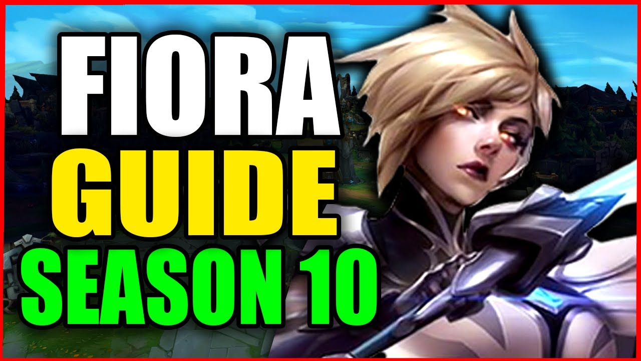 How to Play FIORA for BEGINNERS (Best Build, Runes, Season 10) S10 Fiora Gameplay Guide