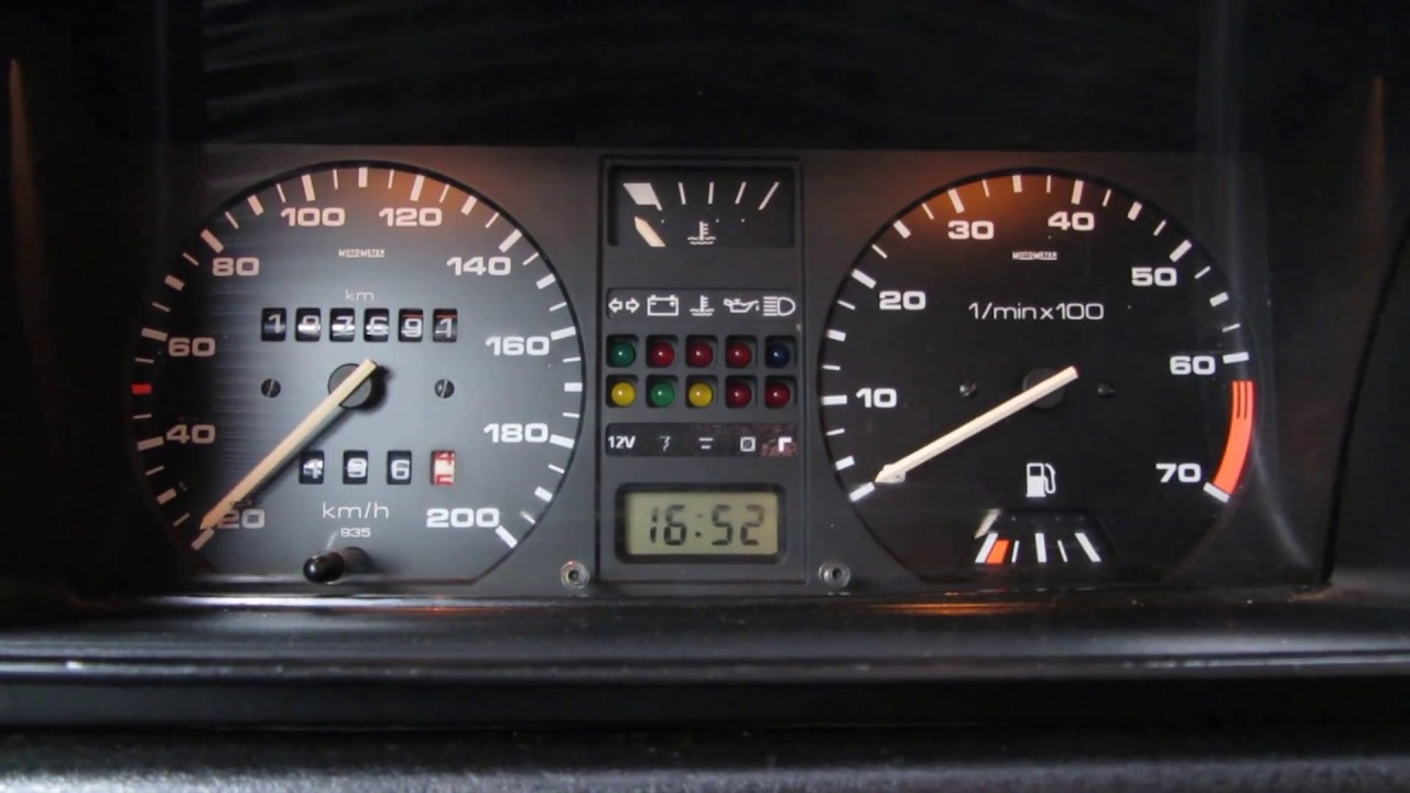 how to make a instrument led panel vw golf 2    jetta 2 led
