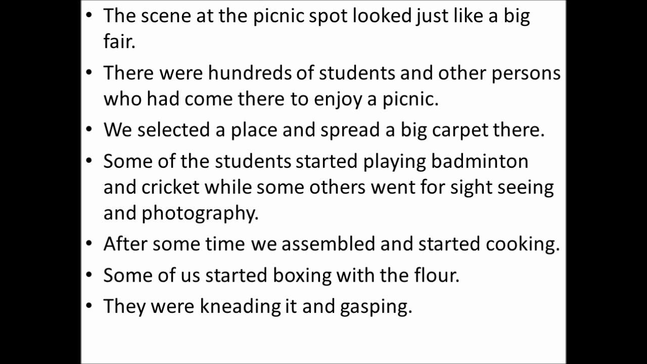 english essays on picnic