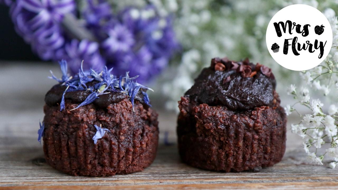 Gesunde Schoko Muffins Vegan Ohne Mehl Und Ohne Zucker Backen Youtube