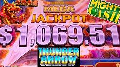 Thunder Arrow Slot Machine $25 MAX BET & PROGRESSIVE JACKPOT | Mighty Cash Slot Machine Max Bet