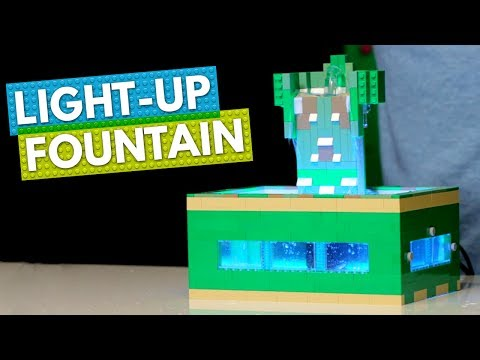 How to Build a LEGO Light-Up Desk Fountain | BRICK X BRICK