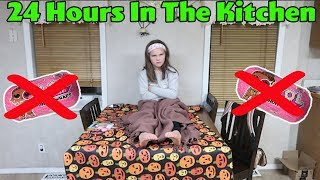 24 Hours In The Kitchen With No LOL Dolls! 24 Hour Overnight Challenge With No LOL Dolls