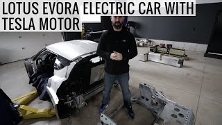 Is This The Future Of Sports Cars? - Lotus Evora Electric Car Project With a Tesla Motor