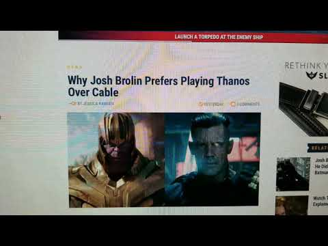 Josh Brolin Prefers Playing Thanos Over Cable and Glad He Didn't Play Batman