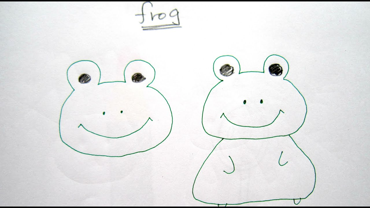 How to draw cartoon frog easy drawing tutorial for for Cartoon drawing tutorials for beginners