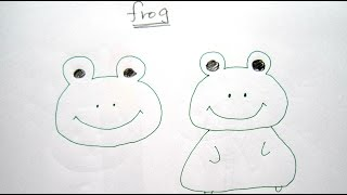 How to Draw Cartoon Frog  畫卡通青蛙 - Easy Drawing Tutorial for Beginners