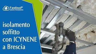 Isolamento soffitto con ICYNENE a Brescia