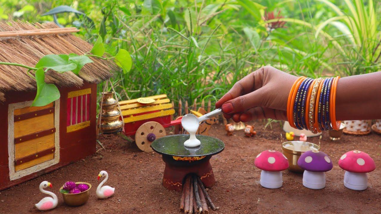 Miniature Mushroom Masala Dosa + Coconut Chutney | Mushroom Dosai | Mini Foodkey