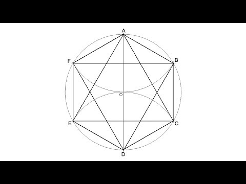 How To Draw A Star Of David Inscribed In A Circle (six Pointed Star)