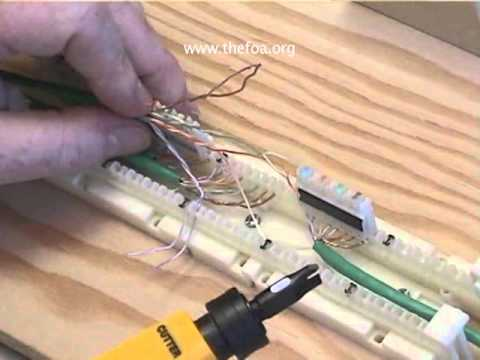 cat 5 cabling part 5 110 block youtube rh youtube com  110 punch down block wiring diagram