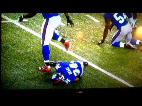 New York Giants Players Faking Injury