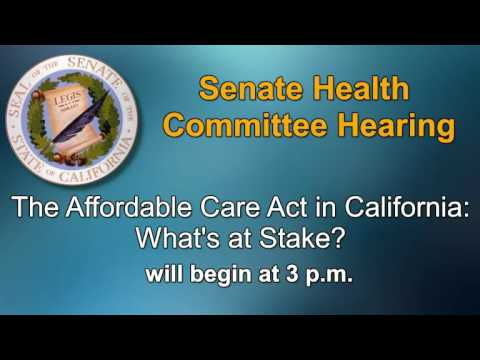 Senate Health Committee Hearing