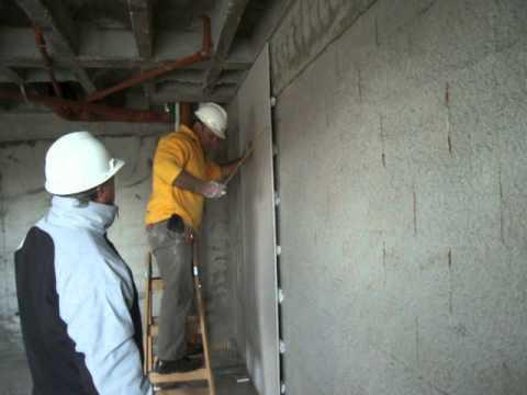 Durlock degacor revoque en seco pegado de placa en 2 - Instalacion de pladur en paredes ...