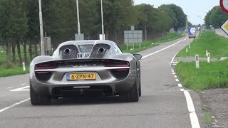 Supercars Accelerating - Porsche 918, Aventador Akra, Carrera GT, M3 F80, M4, F12 etc!