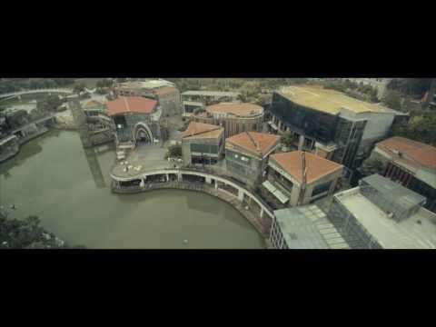 Yuneec Q500 4K drone over a lake in Nanning city, Guangxi, China