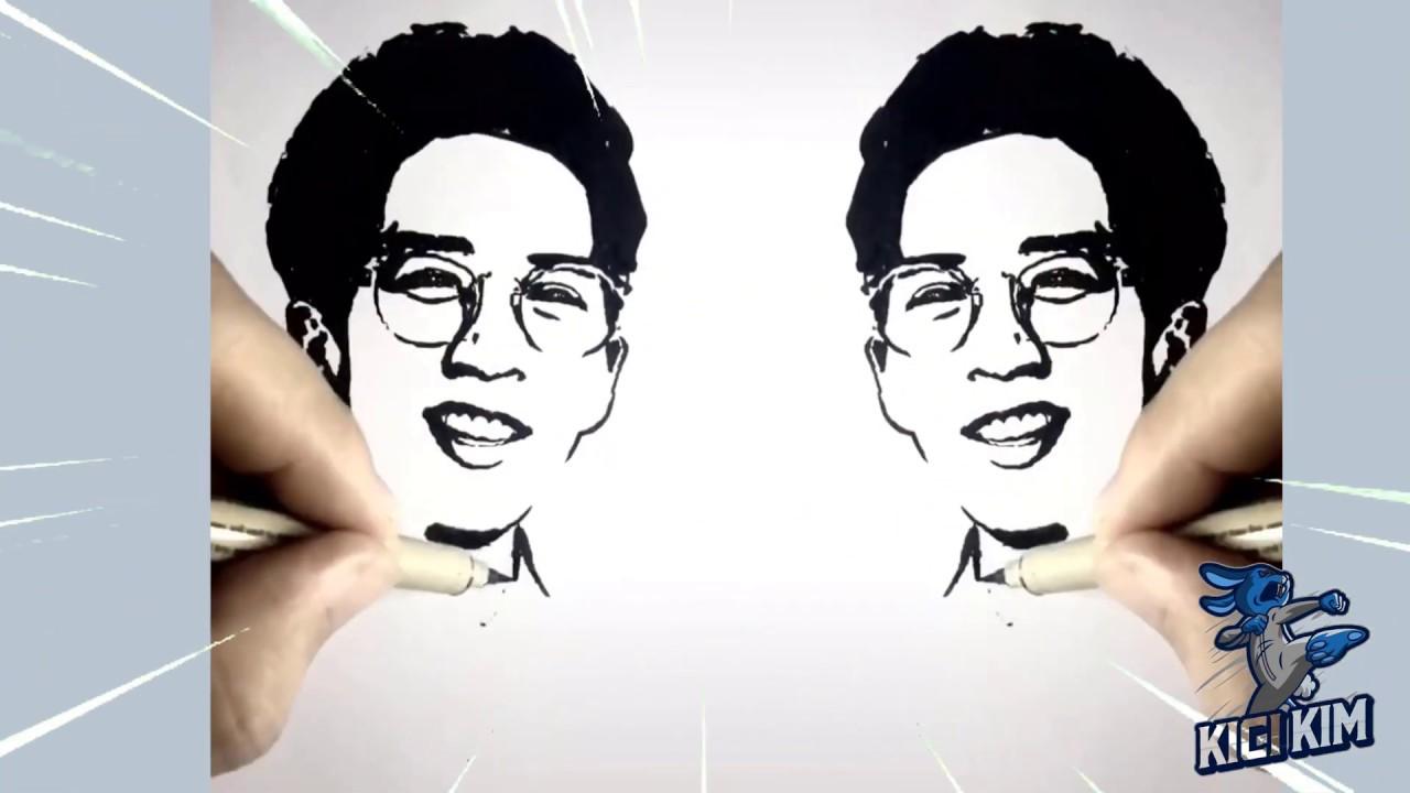 vẽ tranh những nhân vật nổi tiếng bằng bút chì đen trắng cực đẹp 3