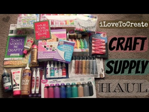 CRAFT SUPPLY HAUL - Tie Dye, Fabric Paint, Glue & More from iLoveToCreate | SoCraftastic